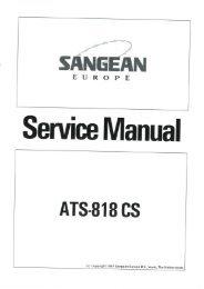 Sangean ATS-818 acs service Manual