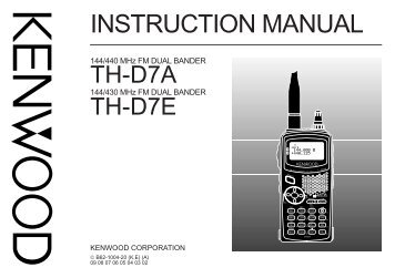 Kenwood tm 251 Manual