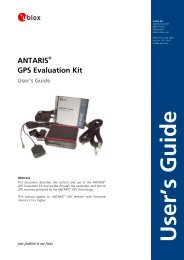 ANTARIS GPS Evaluation Kit