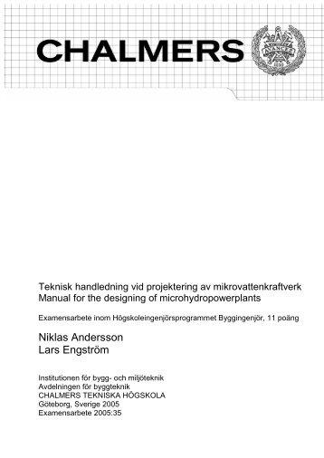 Niklas Andersson Lars Engström - Chalmers tekniska högskola