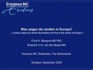 Was zeigen die studien in Europa? - HAROW