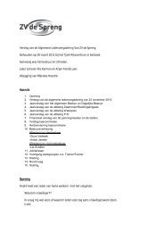 Verslag van de Algemene Ledenvergadering Van ZV de ... - Welkom!