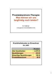 Prostatakarzinom-Therapie: Was können wir uns ... - HAROW