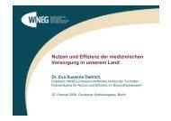 Nutzen und Effizienz der medizinischen Versorgung in ... - HAROW