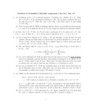 Solutions to Probability I Fall 2011 assignment 1 due Oct. Thu. 13 1 ...