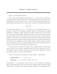 Chapter 1: Complex Numbers Why do we need complex numbers ...