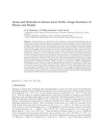 Gauge invariance - Carleton University