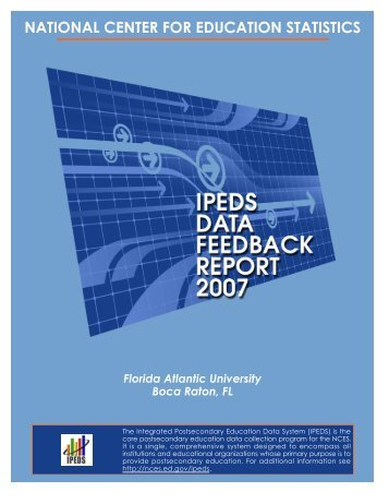 ipeds data feedback report - Institutional Effectiveness & Analysis ...