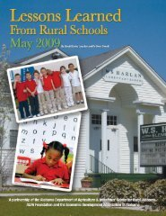 Lessons Learned from Rural Schools - Alabama Department of ...