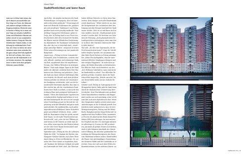 Stadtöffentlichkeit und leerer Raum - Bauwelt