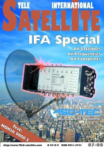 TELE INTERNATIONAL - TELE-satellite International Magazine