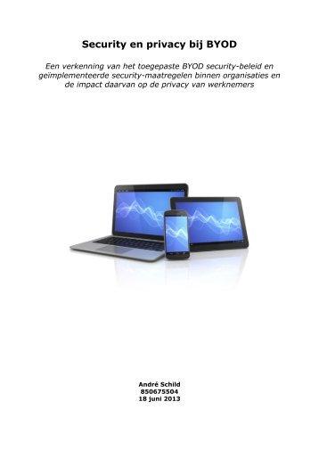 Security en privacy bij BYOD - DSpace at Open Universiteit
