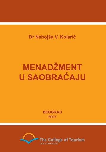 knjiga-mendžment u saobraćaju - Visoka turistička škola