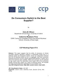 Do Consumers Switch to the Best Supplier? - Centre for Competition ...