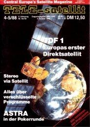Satelliten Markt - TELE-satellite International Magazine