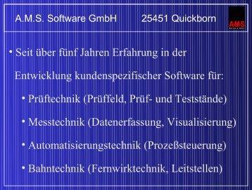 Neu - AMS Software Gmbh