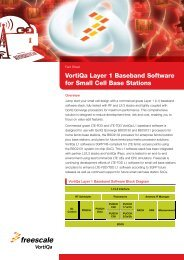 VortiQa Layer 1 Baseband Software for Small Cell Base Stations