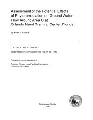 Assessment of the Potential Effects of Phytoremediation on ... - Florida