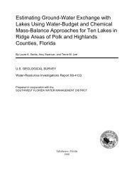 Estimating Ground-Water Exchange with Lakes ... - Florida - USGS