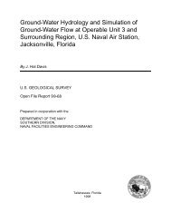 Ground-Water Hydrology and Simulation of Ground ... - Florida - USGS