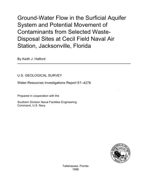 Ground-Water Flow in the Surficial Aquifer System and ... - Florida