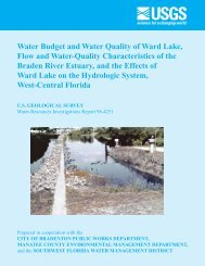 Water Budget and Water Quality of Ward Lake ... - Florida - USGS