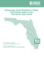 Hydrogeology and the Distribution of Salinity in the ... - Florida - USGS