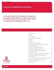 UTILISATION DU SERVEUR IOMEGA STORCENTER PRO ix4-200r ...