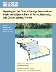 Hydrology of the Coastal Springs Ground-Water Basin and Adjacent ...