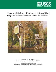 Flow and Salinity Characteristics of the Upper ... - Florida - USGS