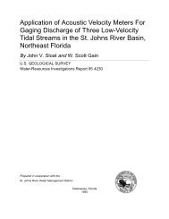 Application of Acoustic Velocity Meters For Gaging ... - Florida - USGS