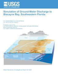 Simulation of Ground-Water Discharge to Biscayne ... - Florida - USGS