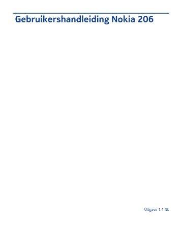 Gebruikershandleiding Nokia 206