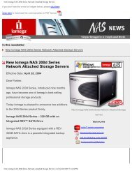 New Iomega NAS 200d Series Network Attached Storage Servers
