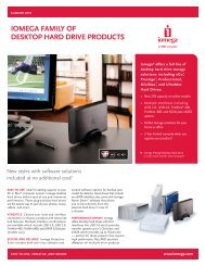 IOMEGA FAMILY OF DESKTOP HARD DRIVE PRODUCTS