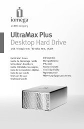 UltraMax Plus Desktop Hard Drive - Iomega