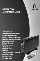 ScreenPlay™ Multimedia Drive - Iomega