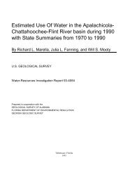 Estimated Use Of Water in the Apalachicola- Chattahoochee-Flint ...