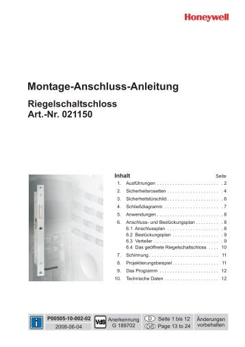 Montage-Anschluss-Anleitung Montage ... - ISG-Online-Shop