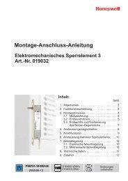 Montage-Anschluss-Anleitung Elektromechanisches Sperrelement 3 ...