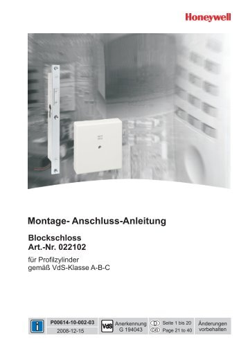 Montage- Anschluss-Anleitung