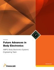 Future Advances in Body Electronics - Freescale Semiconductor