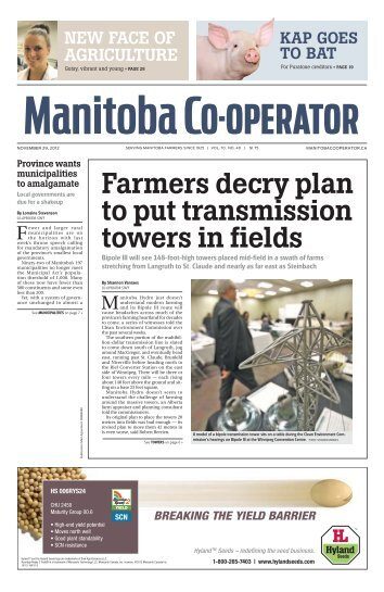 farmers decry plan to put transmission towers in fields