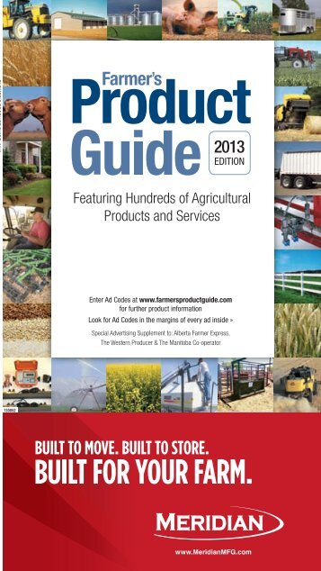 Featuring Hundreds of Agricultural Products and Services AD SPACE