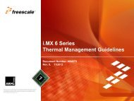 Thermal Management - Freescale Semiconductor