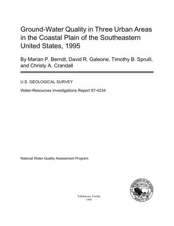 Ground-Water Quality in Three Urban Areas in the ... - Florida - USGS
