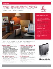 HomeMediaNHD_datasheet_0609_Home Media Network ... - Iomega
