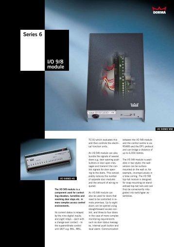 Series 6 I/O 9/8 module