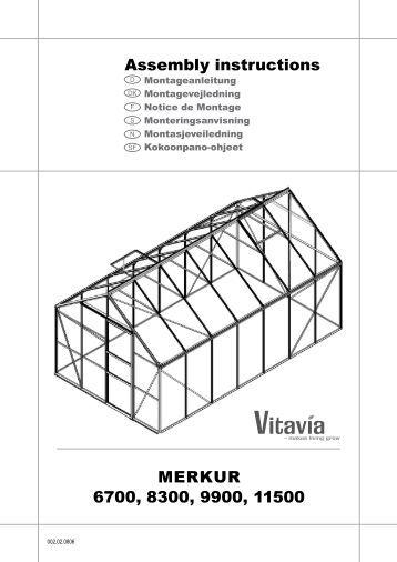 Merkur neptune 6700 8300 9900 11500 assembly bony for Plantes et jardins serres