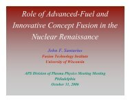 Role of Advanced Fuels and Innovative Concepts